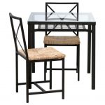 Amazing Dining Room High Top Tables Ikea With Glass And Double Chairs