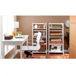Amazing Double White Target Book Cases With White Desk And Chair