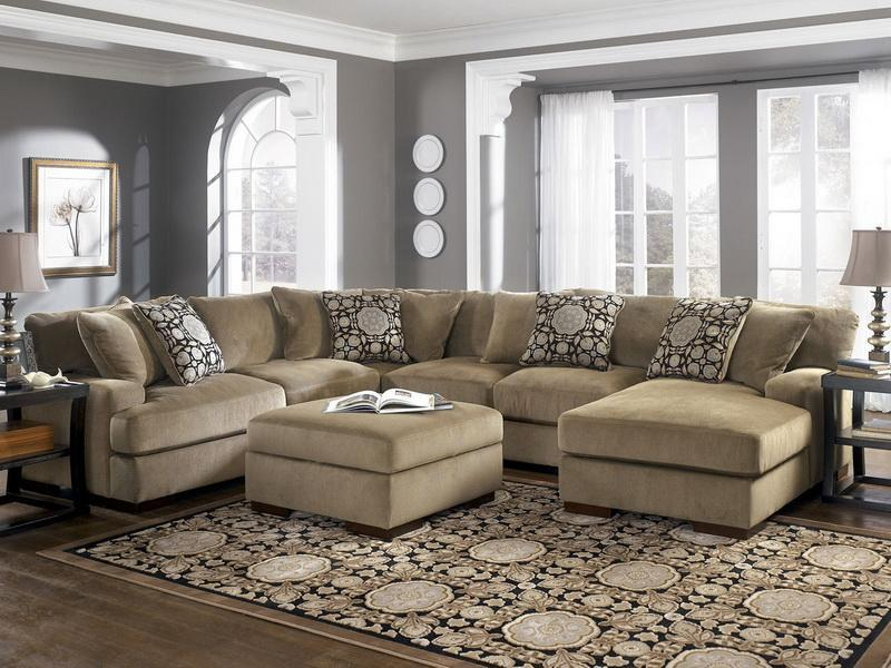 Amazing Oversized Couches Living Room With Stylish Pillows And Rug