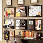 Amazing Wall Organizers For Home Office With Dark Wood Color On Desk And Chair