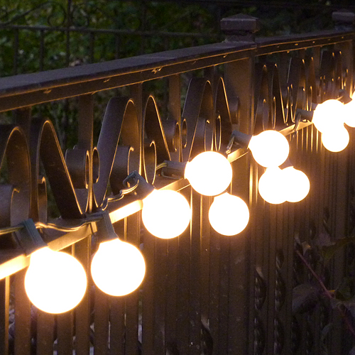 Vintage outdoor string lights ideas homesfeed Outdoor string lighting