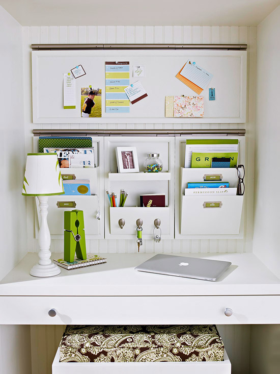 Modren Office Wall Organizer Kit Black Panels With Accessories And