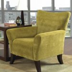 Arm Accent Lime Green Accent Chair With Wooden Side Table