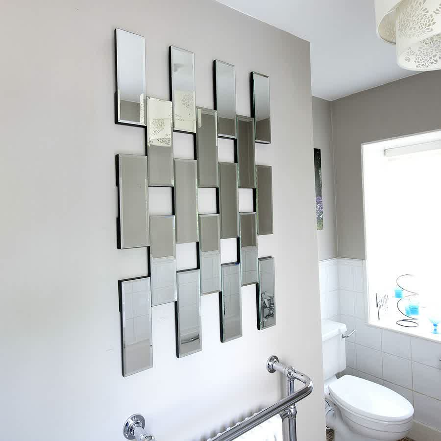 Decorative mirror tiles for homes homesfeed for Wall mirror design