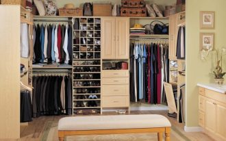 Attractive Closet Storage Cabinet With Bench