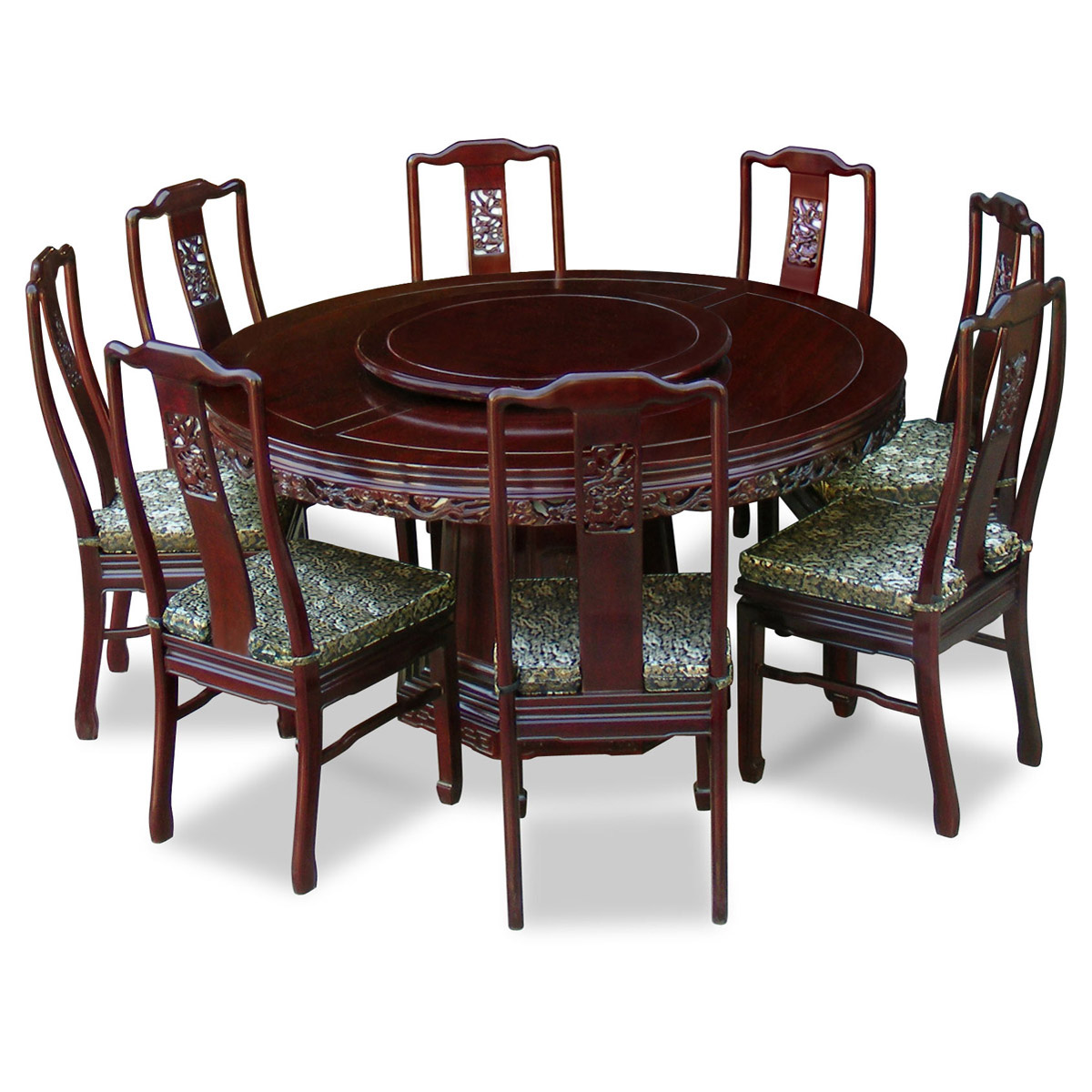 Perfect 8 person round dining table homesfeed for Dining table and chairs