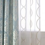 Awesome White Patterned Curtains With Luxury Pattern And Layered