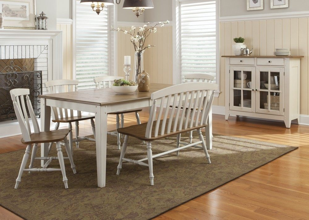 Awesome White Wooden Dining Room Benches With Backs And Glass Door Cabinet Plus Large Stylish
