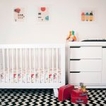 Baby Letto Hudson in white white storage solution monochromatic bedroom rug idea