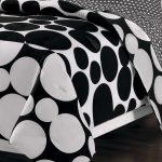 Beautiful Design Of Black And White Polka Dot Sheets