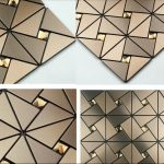 Beautifull mirror tiles for wall system