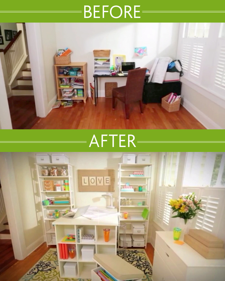 home office wall organization. Before And After Look With Wall Organizers For Home Office Organization