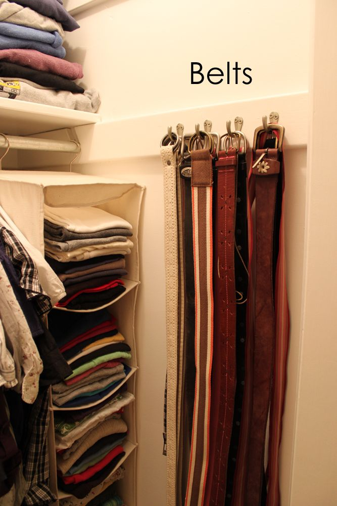 creative belt storage ideas homesfeed