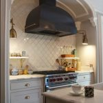 Best Beveled Arabesque Tile On Kitchen Backsplash In Contemporary Design
