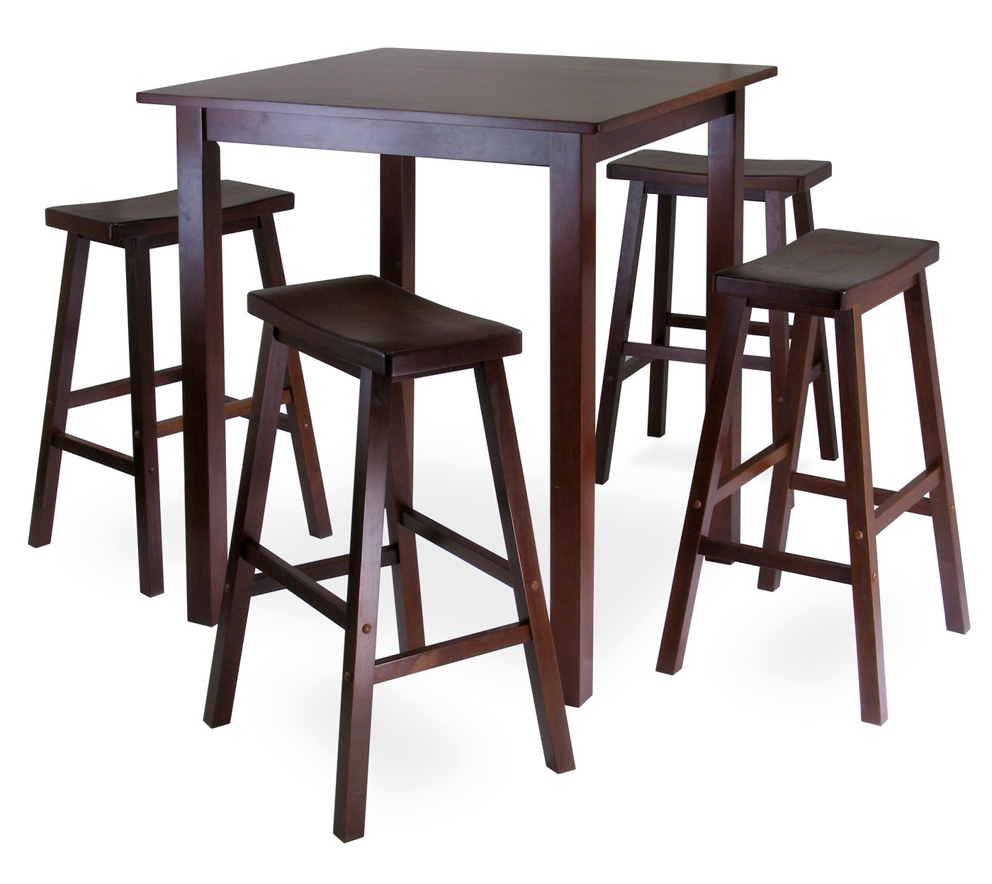 Amazing Best High Top Tables Ikea With Wooden Style And Four Chairs