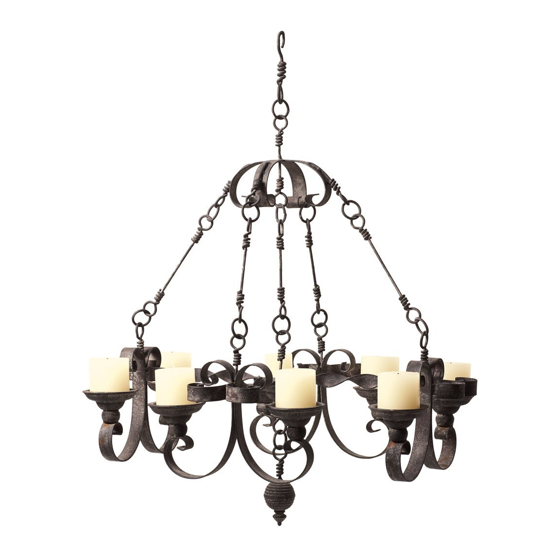 Beautiful real candle chandelier homesfeed - Can light chandelier ...