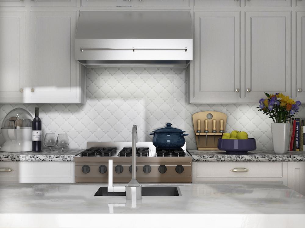 elegant beveled arabesque tile homesfeed