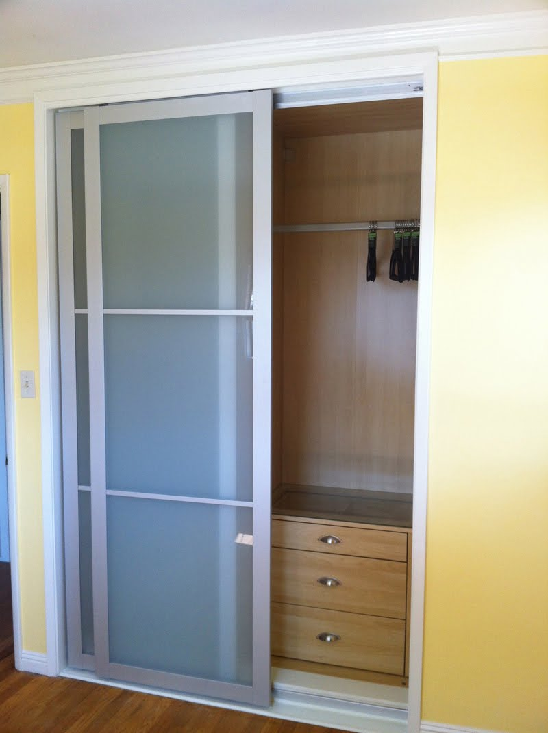 Cool bifold closet doors ikea homesfeed for Built in sliding doors
