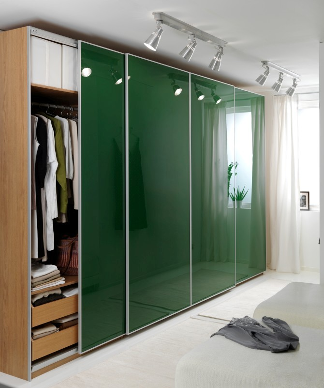 Attirant Bifold Closet Doors Ikea With Glass Design
