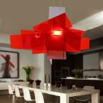Big Bang pendant lamp in vividly red