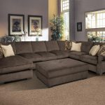 Big Grey sectional Oversized Couches Living Room With Large Rug