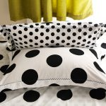 Black And White Polka Dot Sheets With Pillows