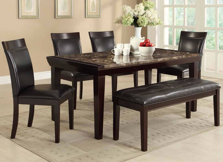 Awesome dinette sets with bench homesfeed for High top dinette sets