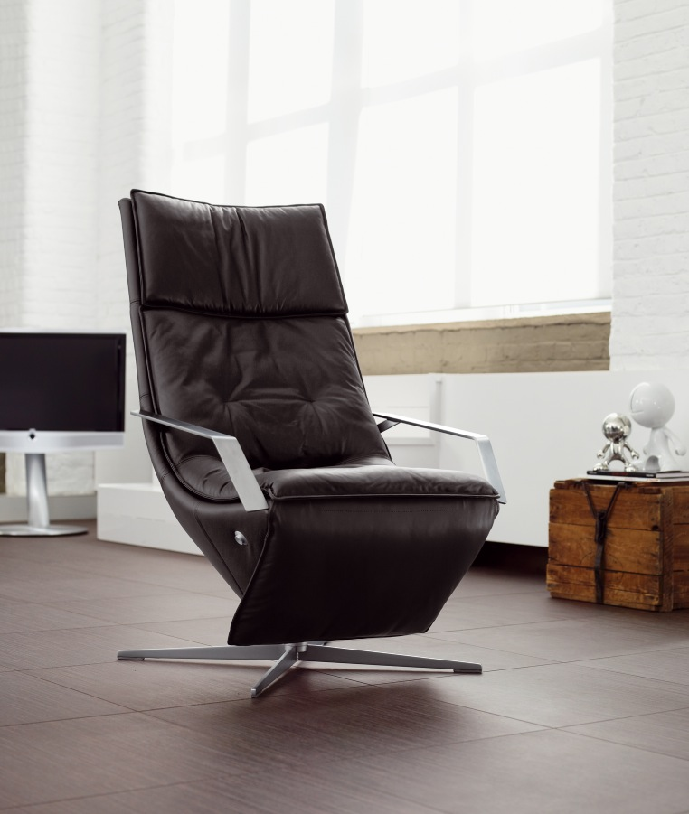 Black Modern Comfy Chairs For Small Spaces