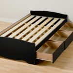 Black Twin XL Bed Frame Ikea With Storage 3 Drawers