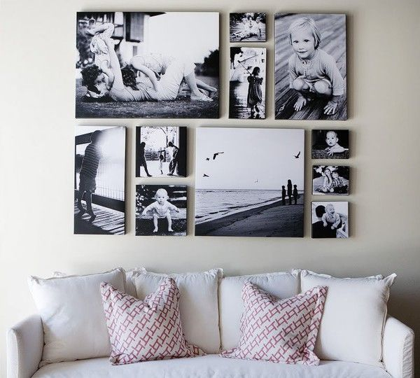 Gallery Wall Ideas Black And White : Canvas collage ideas as wall art homesfeed