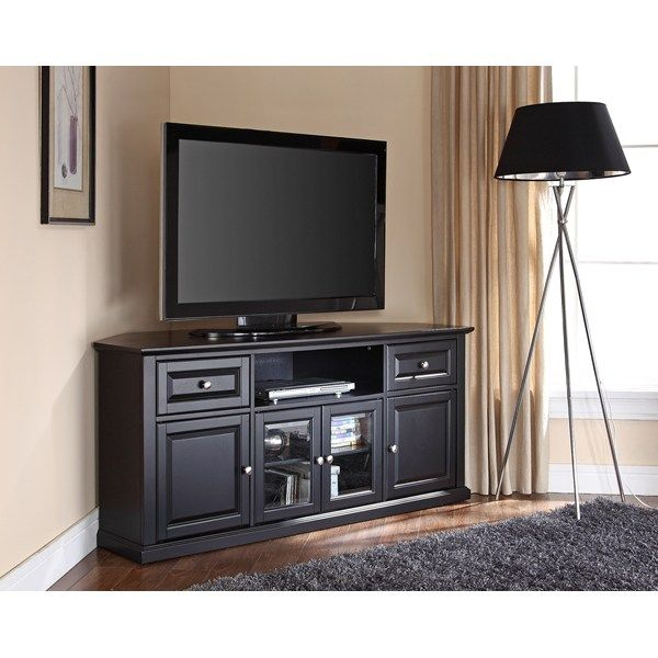 black finished corner tv cabinet idea a floor light fixture with tall
