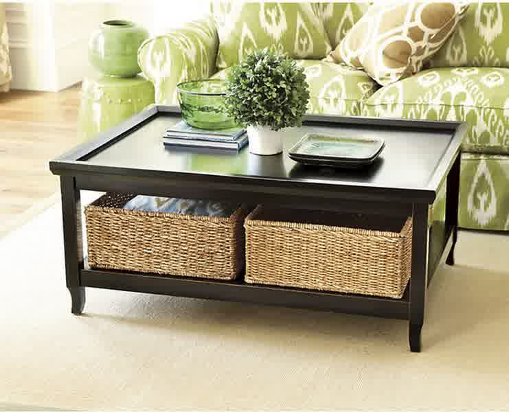 Inspiring Designs of Coffee Table with Baskets
