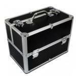 Black Makeup Storage Case With Silver Frame