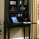 Black secretary desk in antique look