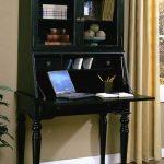 Black secretary desk in antique look