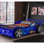 Blue Racing Race Car Beds For Toddlers