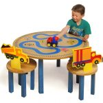 Boys And Trucks Table And Chair Set For Toddlers