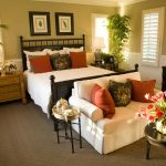 Bright And Comfortable Chairs For Bedroom Sitting Area With Dark Wooden Table And Bed Frame
