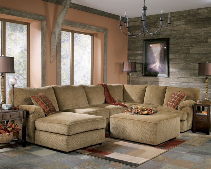 Cool oversized couches living room homesfeed for Bartlett caramel left corner chaise sectional