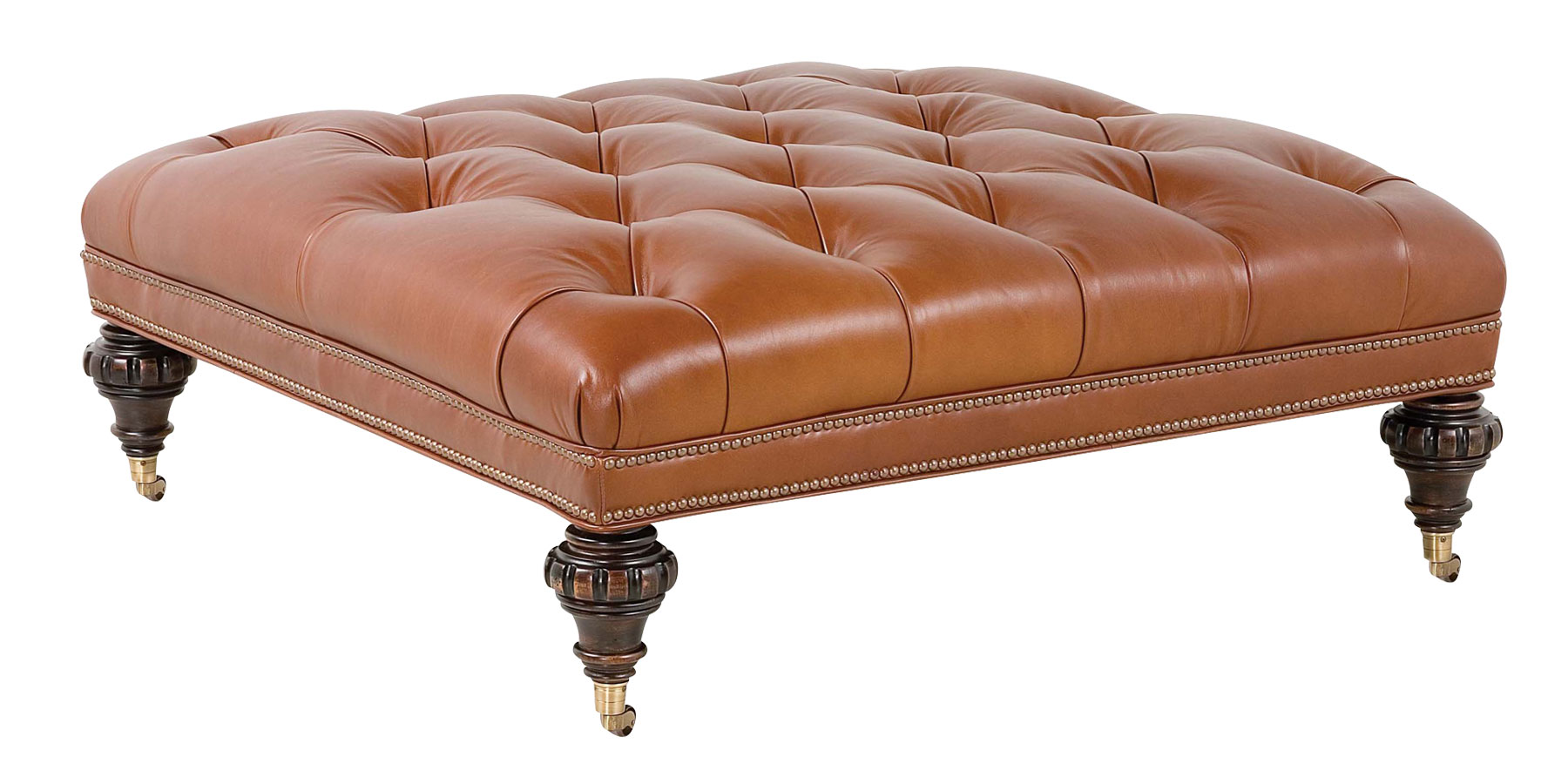 Unique and creative tufted leather ottoman coffee table homesfeed Square leather coffee table