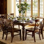 Centerpieces For Dining Room Tables Ideas For Rectangular Wooden Table And Six Chairs With Awesome Dining Table Decor