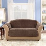 Cheap Slipcovers For Leather Couches In Blue Wall Room With Large Decorative Rug