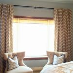 Chevron Curtains Crate And Barrel Drapes With Double Chairs