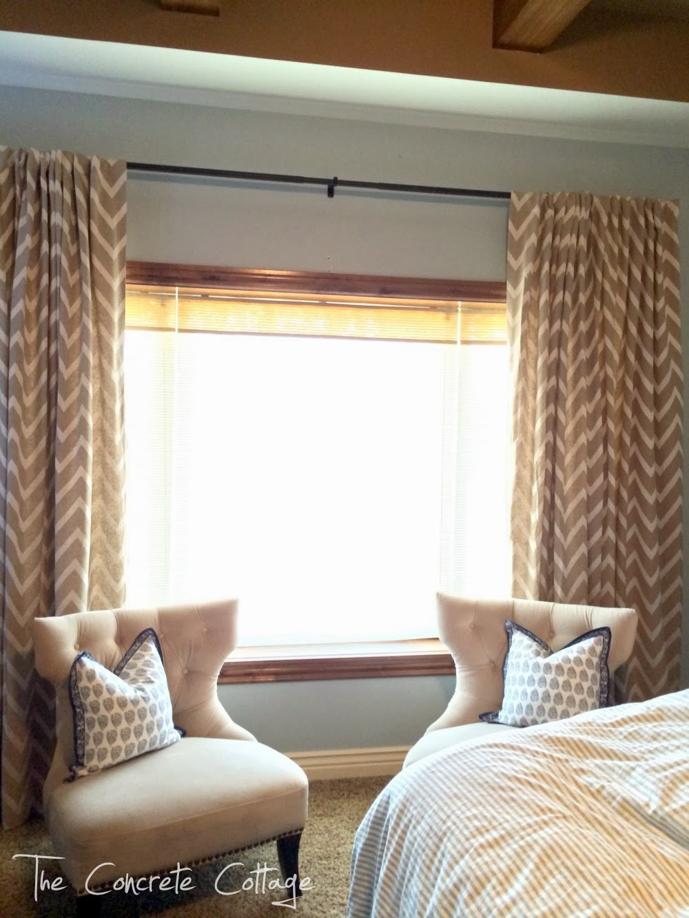 chevron curtains crate and barrel drapes with double chairs - Crate And Barrel Curtains