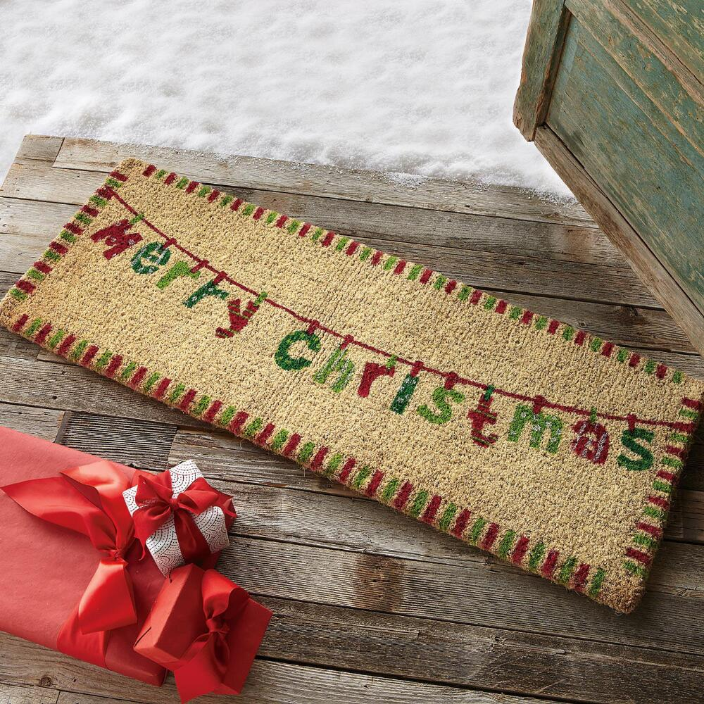 Attrayant Christmas Theme Of Double Door Mat