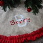 Christmas Tree With Round Red Design Of Personalized Tree Skirts