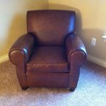 Classic Brown Leather Of Pottery Barn Manhattan Sofa