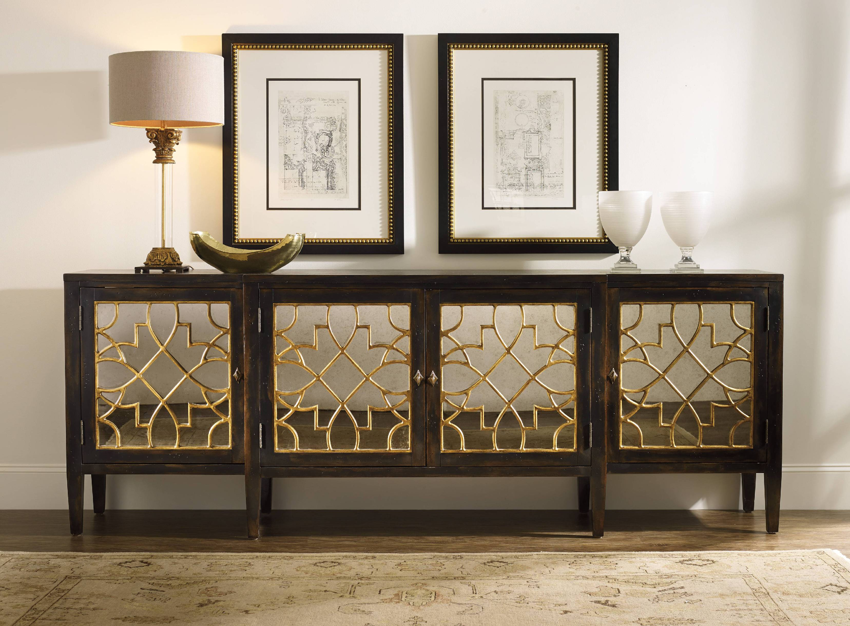 Living Room Media Cabinet Amazing Mirrored Media Console Homesfeed