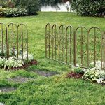 Classic look metal  fence system for garden