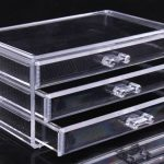 Clear acrylic makeup cases